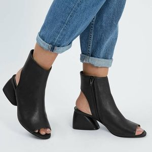 Topshop peep toe ankle boots